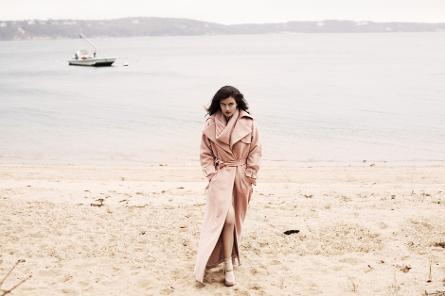Silver Sands Motel Beach Greenport New York on Peconic Bay facing Shelter Island on the North Fork Grazia magazine photo shoot Prada Louis Vuitton shot by Bridget Fleming