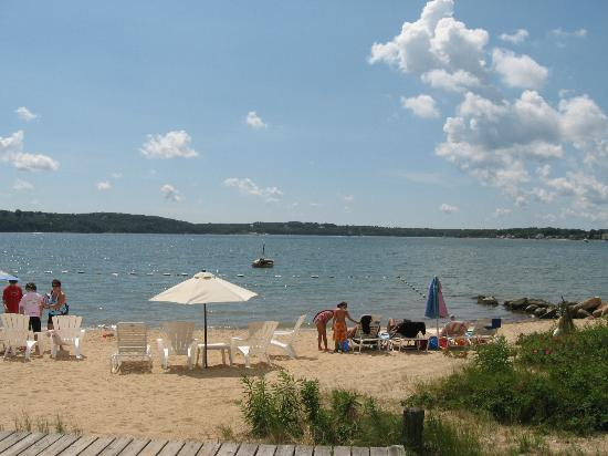Silver Sands Motel Beach Greenport New York on Peconic Bay facing Shelter Island on the North Fork