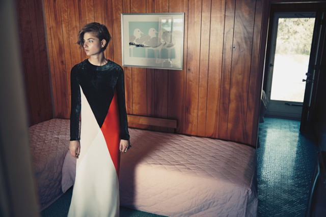 From Harper's Bazaar/Stella McCartney photoshoot at the Silver Sands - photo by Hans Neumann Silver Sands Motel Greenport New York on Peconic Bay on the North Fork